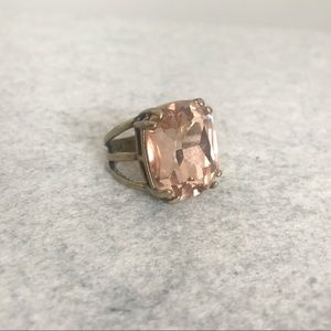 Chloe + Isabel Blush Cushion-Cut Cocktail Ring sz7